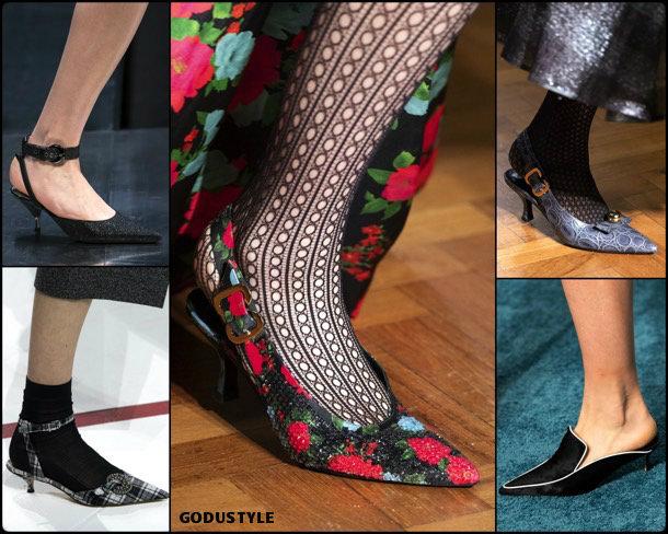 kitten heels, fashion, shoes, fall 2019, trends, zåpatos, moda, invierno 2020, tendencias, runway, pasarelas
