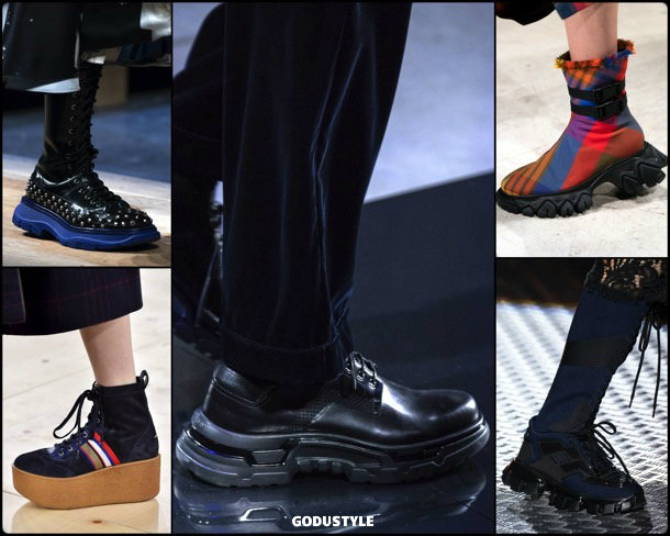 rubber soles, fashion, shoes, fall 2019, trends, zapatos, moda, invierno 2020, tendencias, runway, pasarela