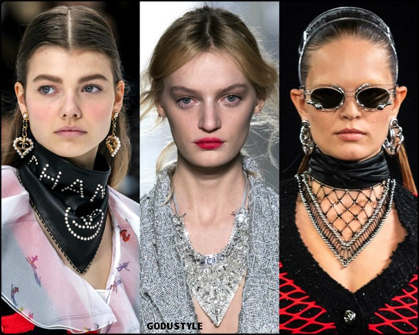scarf necklaces, jewelry, trends, fall 2019, winter 2020, fashion, look, style, details, joyas, tendencias, otoño 2019, invierno 2020, moda, design