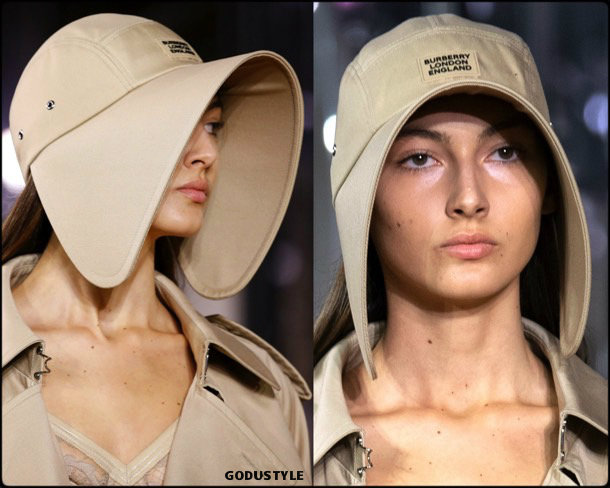 burberry, hats, spring 2020, lfw, look, style, details, beauty, jewelry, verano 2020, sombreros, gorras, review, moda, accessories