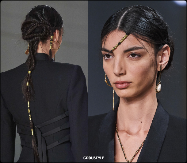 fashion, party, braid, spring 2020, hairstyle, trend, look, hair, style, details, peinados, fiesta, moda, trenza, verano 2020, tendencias