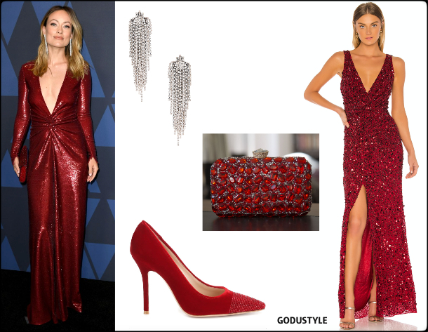 olivia-wilde-sequin-party-dress-fashion-spring-2020-trend-look-style-details-holiday-2019-godustyle