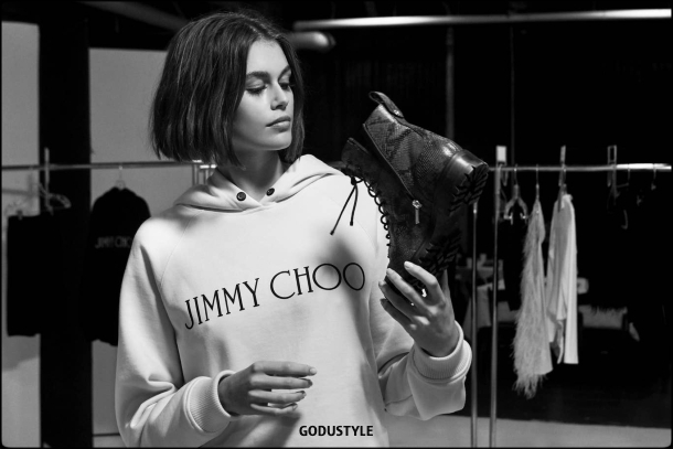 jimmy choo, kaia gerber, shoes, combat boots, capsule, collection, spring, summer, 2020, look, style, details, shopping, moda, zapatos, primavera, verano, colección cápsula