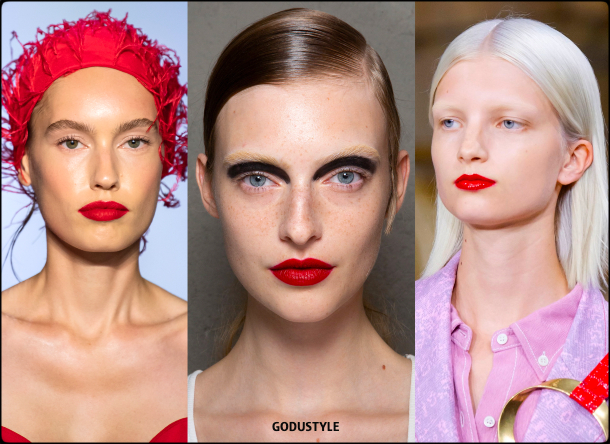 red lips, fashion, makeup, spring, summer, 2020, trend, look, style, details, maquillaje, verano, 2020, tendencias, moda, belleza, beauty
