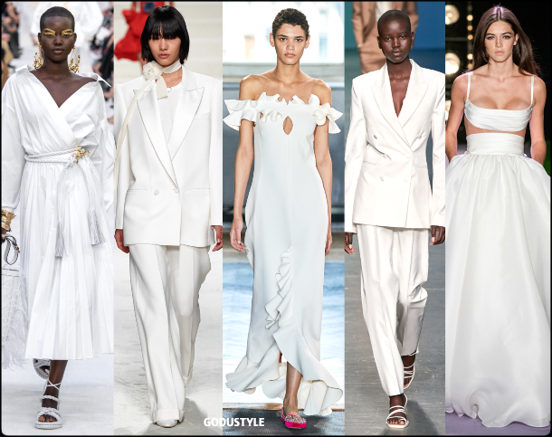brilliant white, blanco, fashion, color, spring, summer, 2020, color, trend, look, style, details, moda, verano, primavera, tendencia, pantone