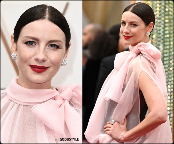 caitriona balfe, oscars, 2020, red carpet, 2020, look, style, beauty, details, jewelry, accessories, moda, alfombra roja, oscar, belleza, joyas
