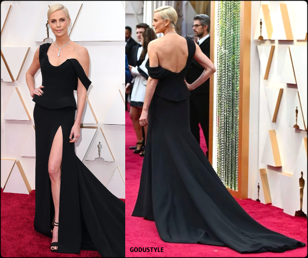 charlize theron, oscars, 2020, red carpet, 2020, look, style, beauty, details, jewelry, accessories, moda, alfombra roja, oscar, belleza, joyas