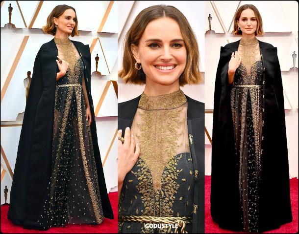 natalie portman, oscars, 2020, red carpet, 2020, look, style, beauty, details, jewelry, accessories, moda, alfombra roja, oscar, belleza, joyas