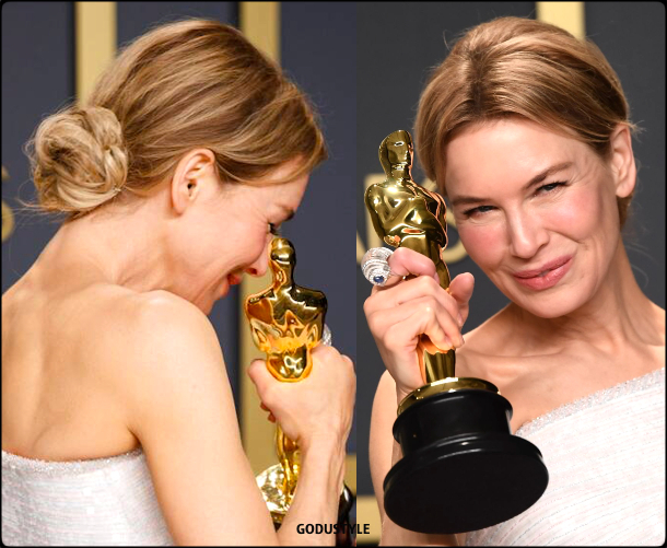 renee zellweger, oscars, 2020, red carpet, 2020, look, style, beauty, details, jewelry, accessories, moda, alfombra roja, oscar, belleza, joyas