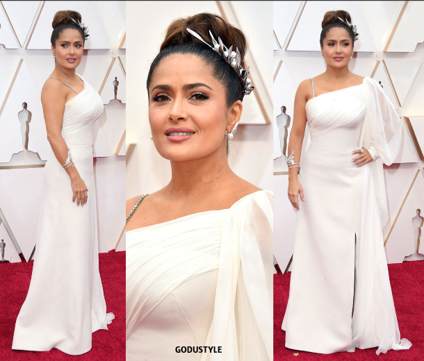 salma-haye-oscar-2020-fashion-look-style-details-red-carpet-moda-celebrities-godustyle