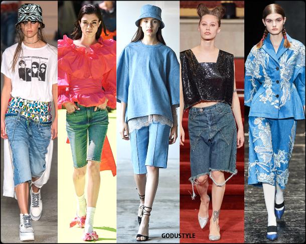 denim, bermuda, spring, summer, 2020, fashion, trend, look, style, details, moda, jeans, tendencia, verano, runway, design