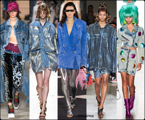 denim, deluxe, metallic, spring, summer, 2020, fashion, trend, outfit, look, style, details, moda, jeans, tendencia, gris, verano, runway, design