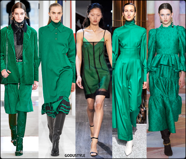 ultramarine green, color, fall, winter, 2020, 2021, fashion, trend, look, style, details, outfits, runway, moda, tendencia, otoño, invierno