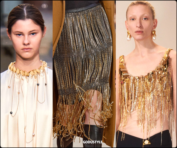 fringe, body, jewelry, fall, winter, 2020, 2021, trend, look, style, details, runway, joyas, moda, flecos, tendencia, invierno, otoño