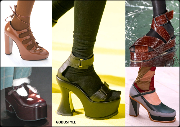 shoes, platforms, fall, winter, 2020, 2021, fashion, trends, look, style, details, fashion weeks, designer, zapatos, moda, tendencias, plataformas