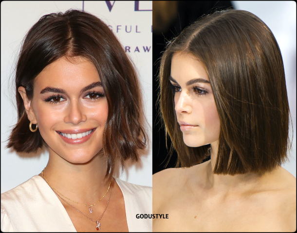 kaia gerber, wavy bob, straight bob, fashion, bob, hairstyle, fall, 2020, winter, 2021, hair, trend, beauty, look, style, details, moda, tendencia, peinado, corte pelo