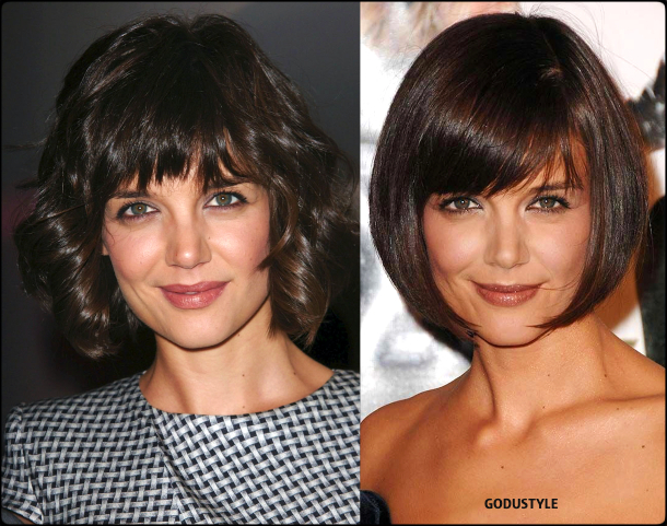 katie holmes, wavy bob, straight bob, curly bob, fashion, bob, hairstyle, fall, 2020, winter, 2021, hair, trend, beauty, look, style, details, moda, tendencia, peinado, corte pelo