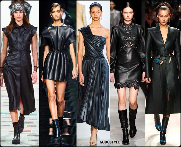 fashion, black leather, dress, fall, winter, 2020, 2021, trend, look, style, details, moda, tendencias, otoño, invierno, vestido, cuero, negro
