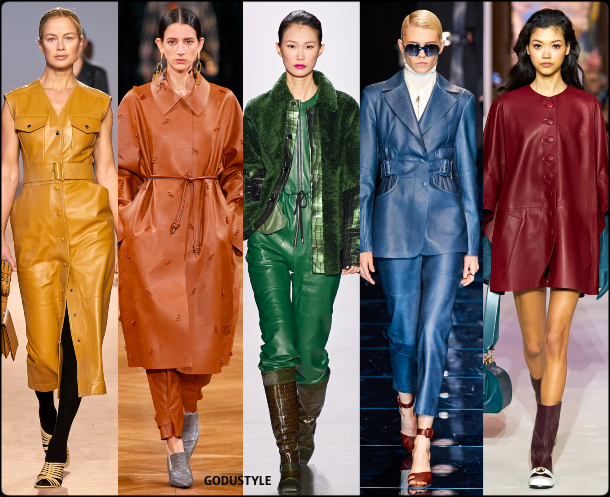 fashion, color, leather, dress, fall, winter, 2020, 2021, trend, look, style, details, moda, tendencias, otoño, invierno, vestido, cuero
