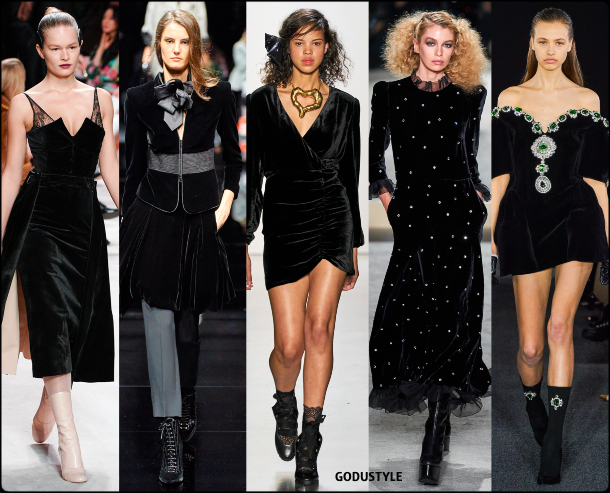 fashion, black velvet, dress, fall, winter, 2020, 2021, trend, look, style, details, moda, tendencias, otoño, invierno, vestido, negro, terciopelo