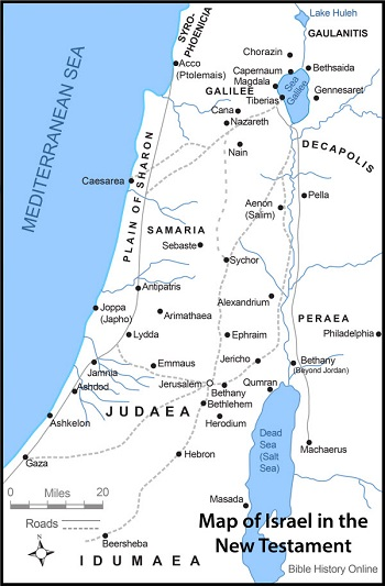 Israel map in New Testament times
