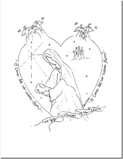 Christmas coloring pages for the kiddos (1/3)