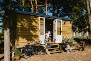 godwick hall sheperds huts