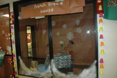 """French teacher Mindy Guyer's """"French Bread House."""""""