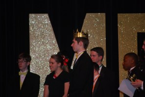Mr. MG winner senior Bryan Martter being crowned.