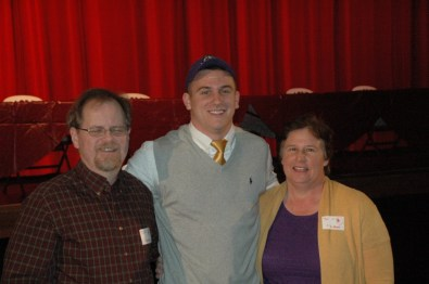 Senior A.B. Rhodes with his family