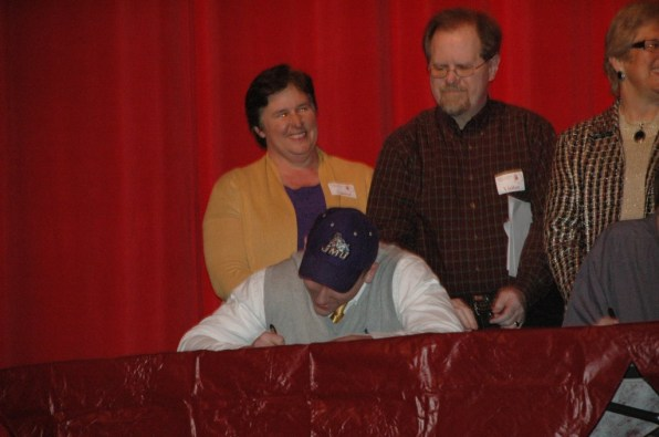 A.B. Rhodes signing to play football at James Madison