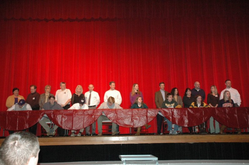 The National Signing Day event was held on February 5 in Godwin's auditorium