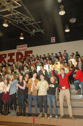 The crowd goes wild for the Godwin vs. Freeman All-Star Basketball game.