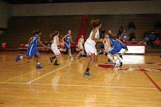 Jessica Martin runs on offense