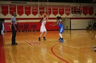 Abbey Cassell holds the ball