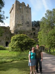 Maley and husband at the Blarney Castle.