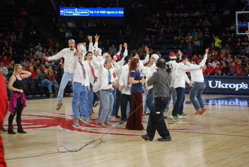 The senior boys cheering, again.