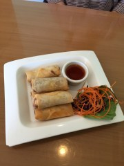 Crispy Rolls are an appetizer from Elephant Thai Restaurant.