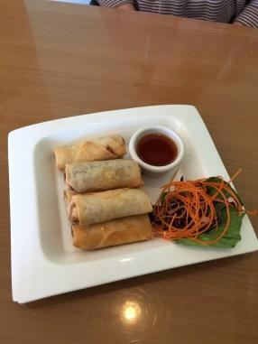 Crispy Rolls are an appetizer from Elephant Thai Restaurant.