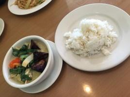 Chicken green curry from Elephant Thai Restaurant.