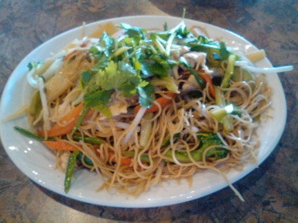 Stir Fried Egg Noodles from Vietnam Garden