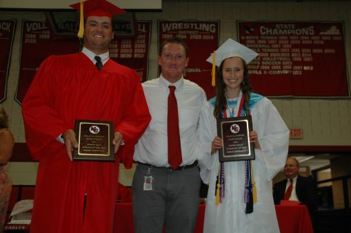 State champions Mark Lawrence and Sarah Goodrich are named Male and Female Athletes of the Year.