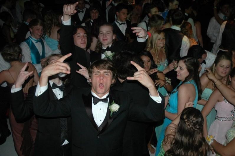 Having a blast on the dance floor.