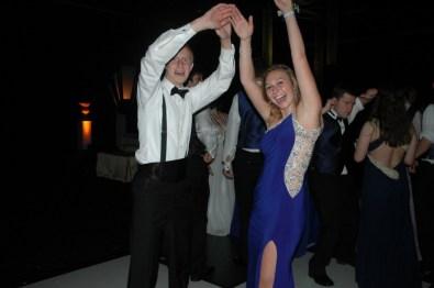 Students having fun on the dance floor.
