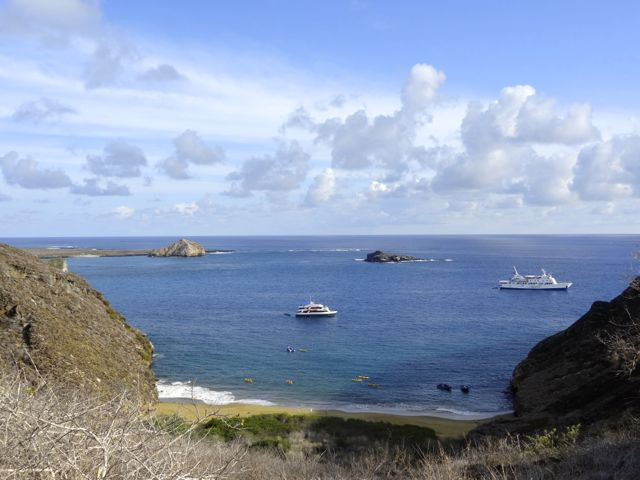 cruise ships in the Galapagos Islands off the coast of Ecuador