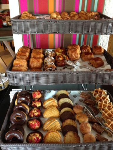 fresh pastries at B