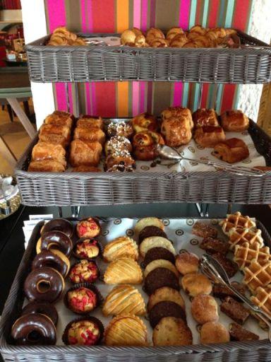 fresh pastries at B
