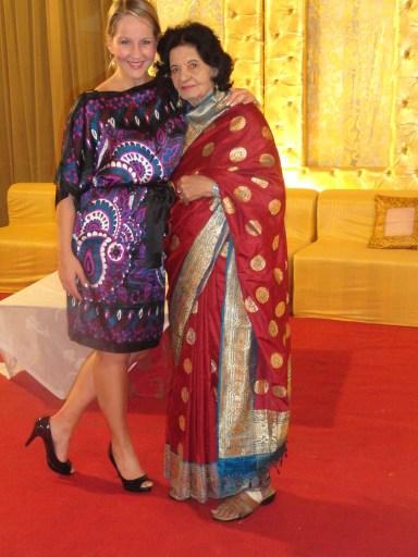 Gina with Sucheta's grandmother