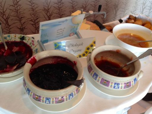 homemade jams served for breakfast