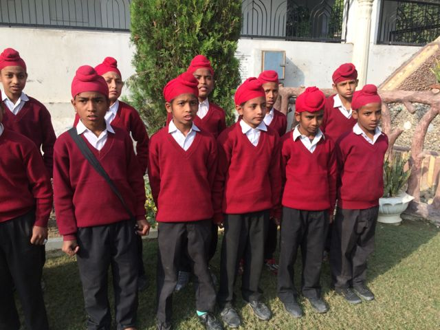 sikh kids at khalsa orphanage in Amritsar